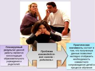 Планируемый результат данной работы является консолидация образовательного уч