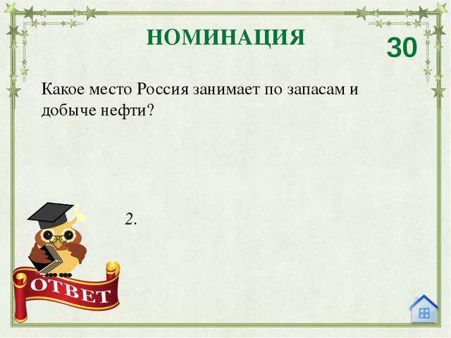 Назовите крупнейшие месторождения газа в России. НОМИНАЦИЯ 40 Уренгойское, Ям...