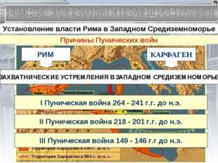 Установление власти Рима в Западном Средиземноморье Завоевание Италии в III в