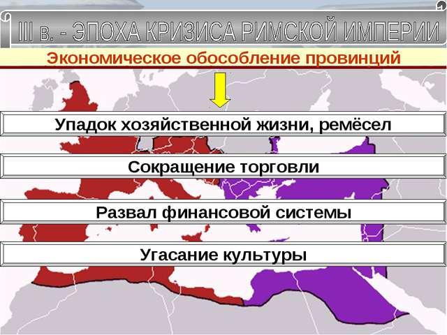 Раздел империи и обороноспособность страны Уменьшение возможности содержания...