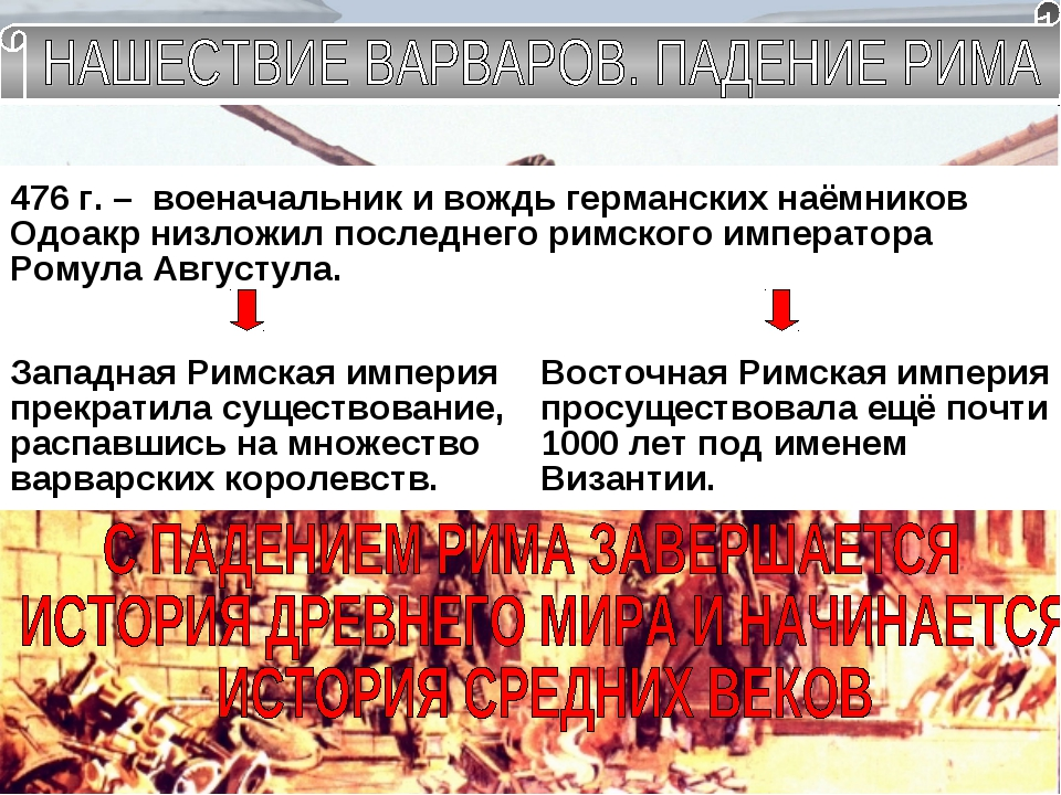 III – IV в.в. – набеги варваров на империю Лимес IV – VII в.в. – Великое пере...