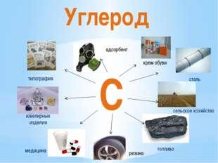 Углерод С сталь сельское хозяйство топливо медицина типография ювелирные изде