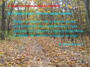5.Односоставные предложения:  1).Определенно –личные предложения:  Войд