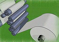 Сматывание бумаги в рулоны