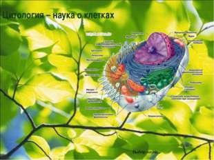 Цитология – наука о клетках Выбор науки