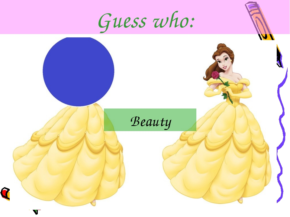Guess who: Beauty