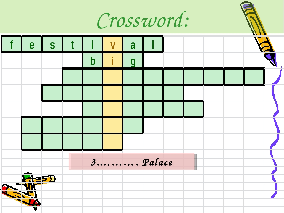 Crossword: 3.………. Palace