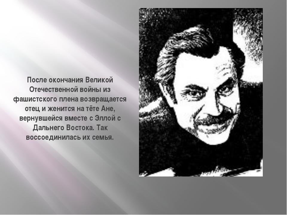 После окончания Великой Отечественной войны из фашистского плена возвращается...