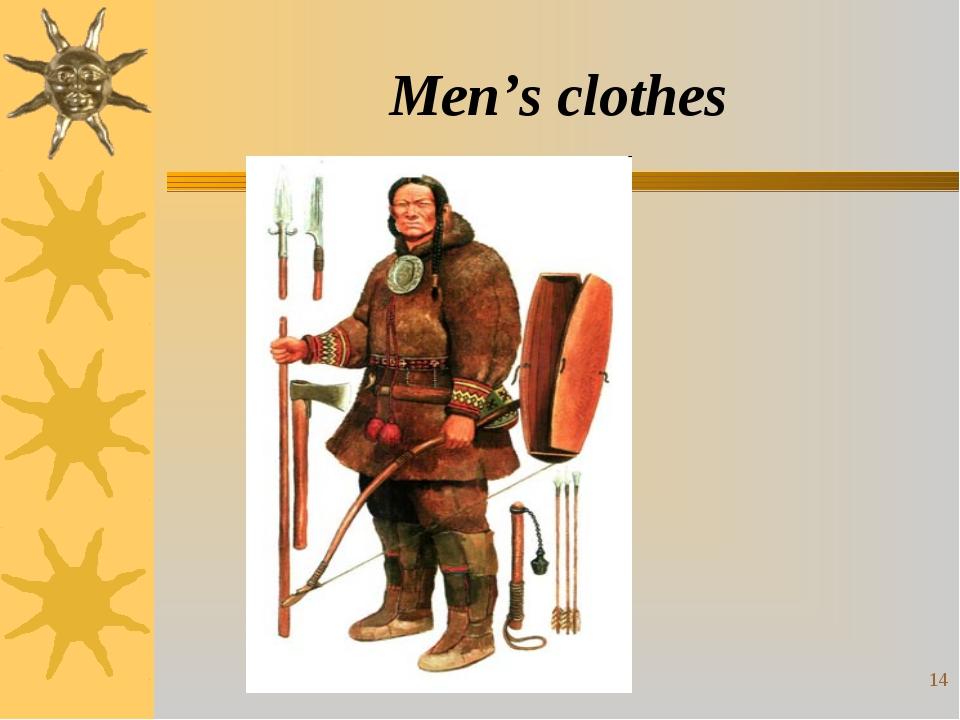 * Men's clothes
