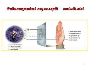 Радиоактивті сәулелердің өтімділігі *