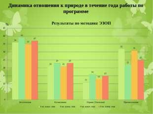 Динамика отношения к природе в течение года работы по программе %