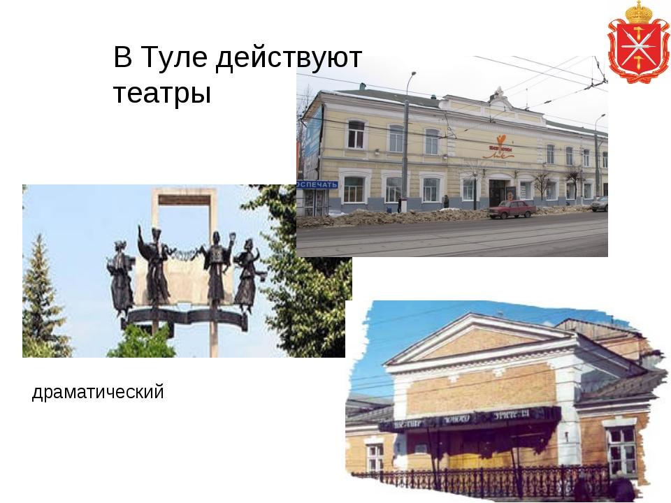 драматический   В Туле действуют театры кукол и театр юного зрителя(ТЮЗ).