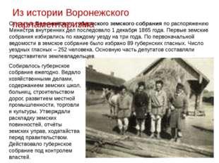 Открытие Воронежского губернского земского собрания по распоряжению Министра