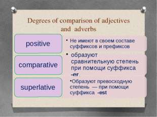 Degrees of comparison of adjectives and adverbs