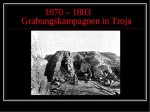 1870 – 1883 Grabungskampagnen in Troja