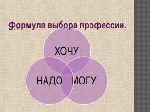 Формула выбора профессии.