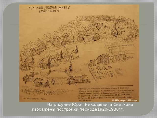 На рисунке Юрия Николаевича Скаткина изобажены постройки периода1920-1930гг.