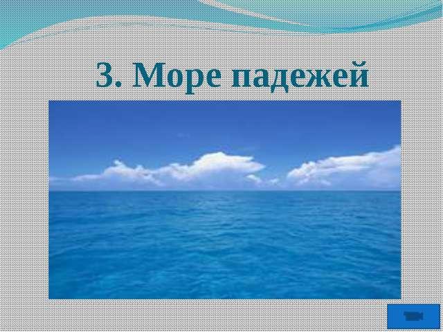 3. Море падежей