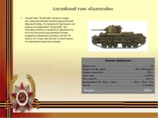 """Английский танк «Валентайн» Легкий танк """"Валентайн"""" является самым массовым а"""