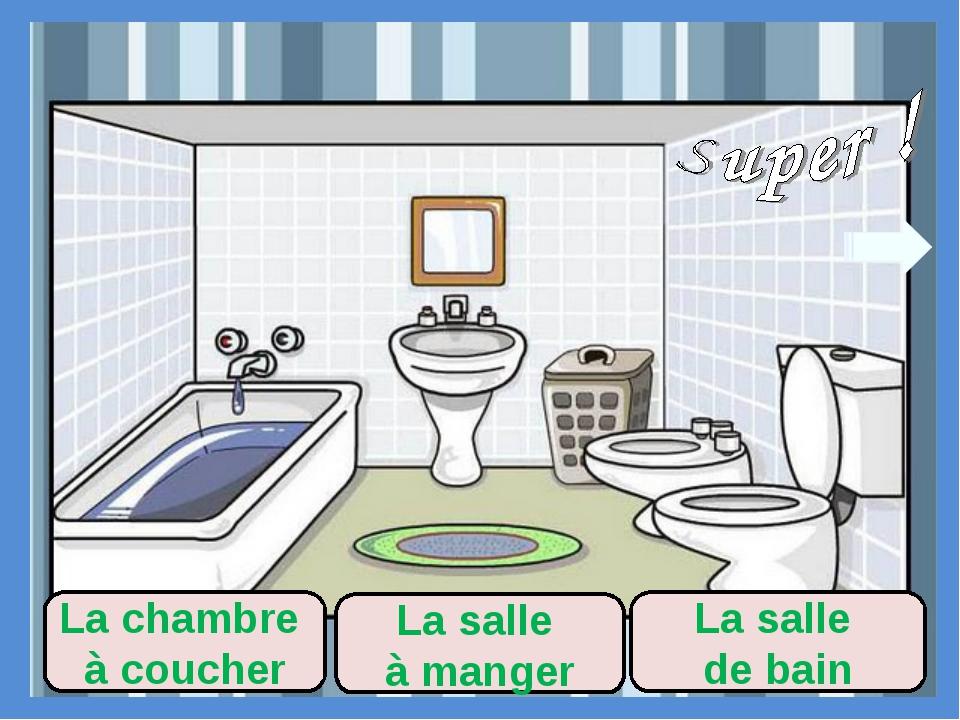 La salle à manger La salle de bain La chambre à coucher