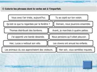 Utilise la bonne terminaison des verbes 1) Martine (joue ou jouent) aux carte