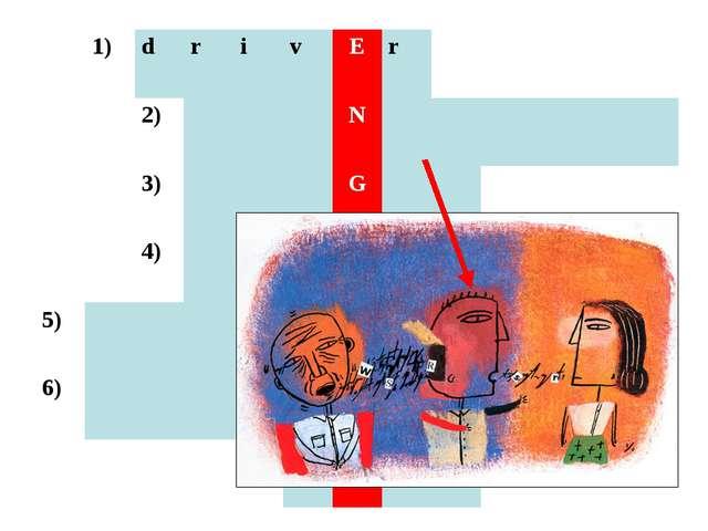 1)drivEr 2)N 3)G 4)L 5)...