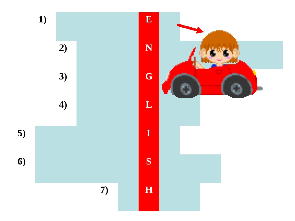 1)E 2)N 3)G 4)L 5)I...
