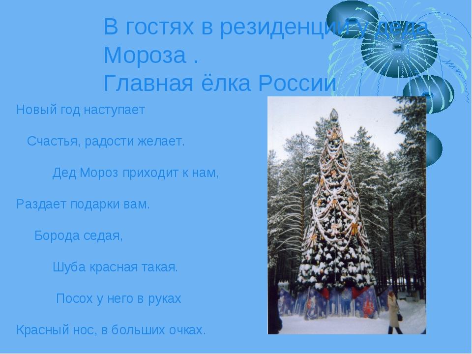 В гостях в резиденции у деда Мороза . Главная ёлка России Новый год наступает...