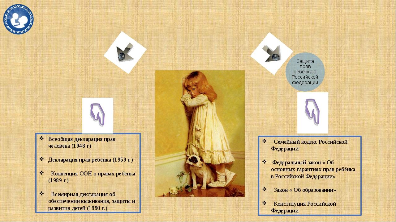 Семейный кодекс Российской Федерации Федеральный закон « Об основных гаранти...
