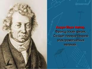 Андре Мари Ампер. Французский физик. Создал первую теорию электромагнитных яв