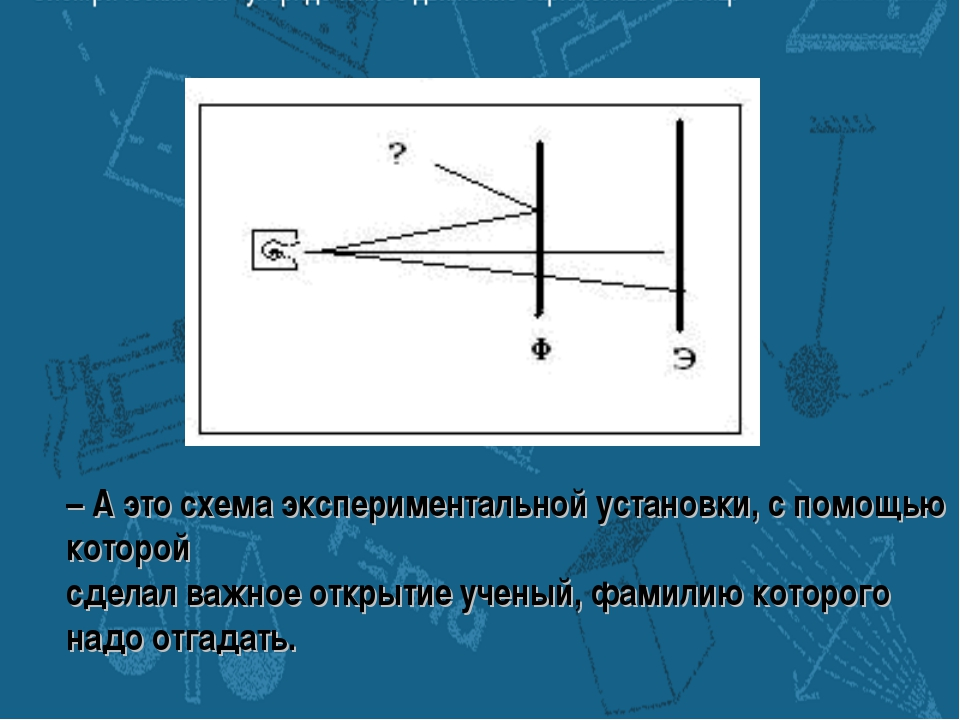 – А это схема экспериментальной установки, с помощью которой сделал важное от...