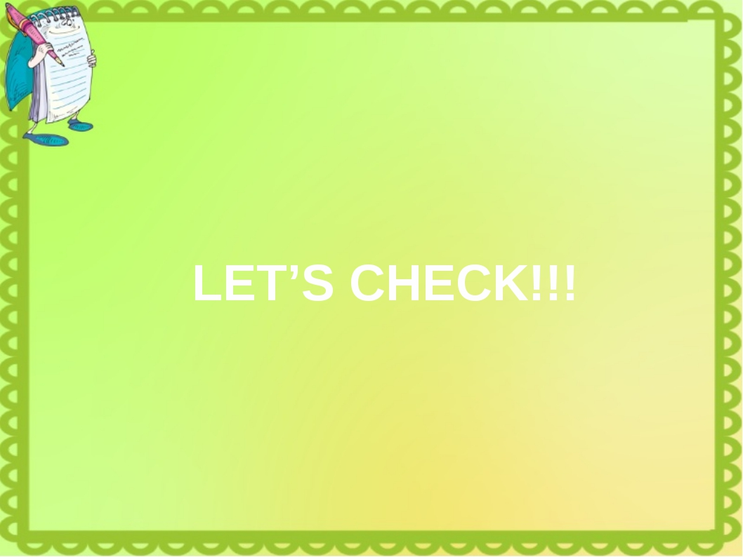 LET'S CHECK!!!