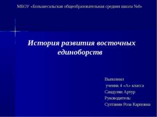 МБОУ «Большесальская общеобразовательная средняя школа №8» Выполнил ученик 4
