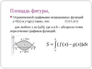Площадь фигуры, Ограниченной графиками непрерывных функций y=f(x) и y=g(x) та