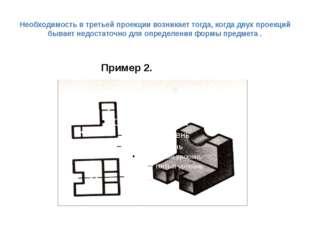 Необходимость в третьей проекции возникает тогда, когда двух проекций бывает