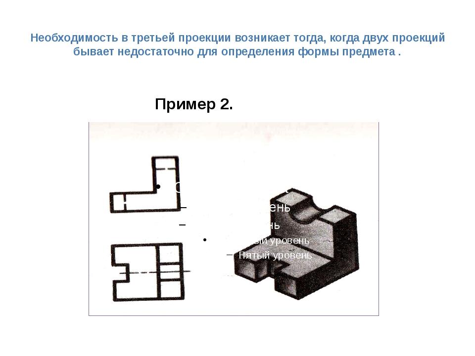 Необходимость в третьей проекции возникает тогда, когда двух проекций бывает...