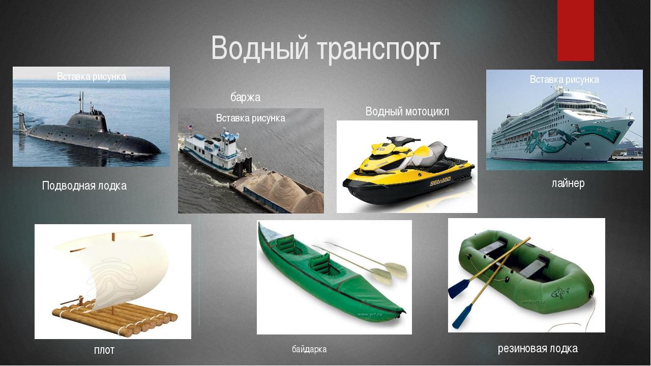 виды лодок названия с картинками