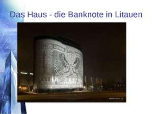 Das Haus - die Banknote in Litauen