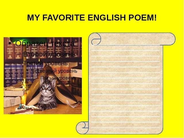 MY FAVORITE ENGLISH POEM! ___________________________________________________...