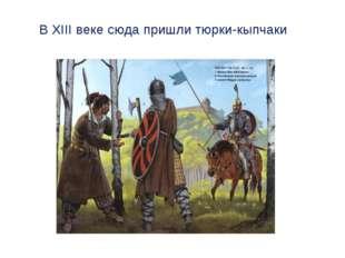 В XIII веке сюда пришли тюрки-кыпчаки