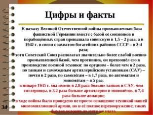 Цифры и факты К началу Великой Отечественной войны промышленная база фашистко