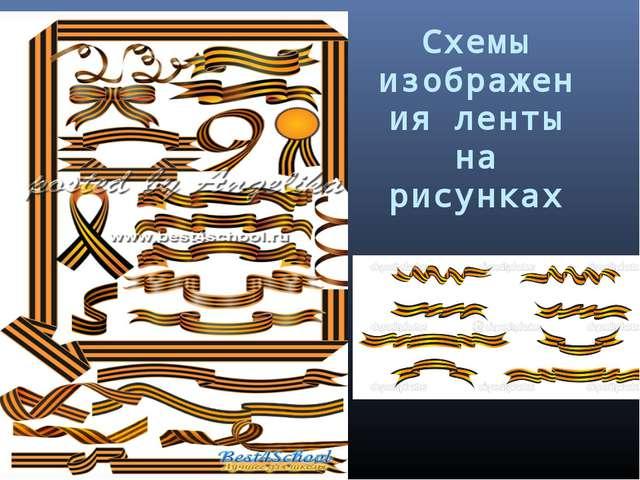 Схемы изображения ленты на рисунках