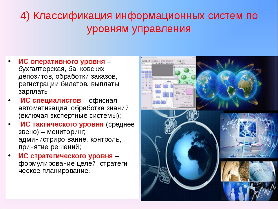 4) Классификация информационных систем по уровням управления ИС оперативного...