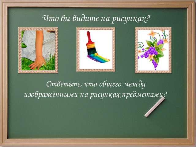 Что вы видите на рисунках? Ответьте, что общего между изображёнными на рисун...