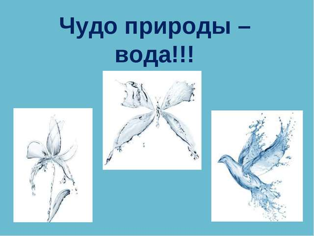 Чудо природы – вода!!!
