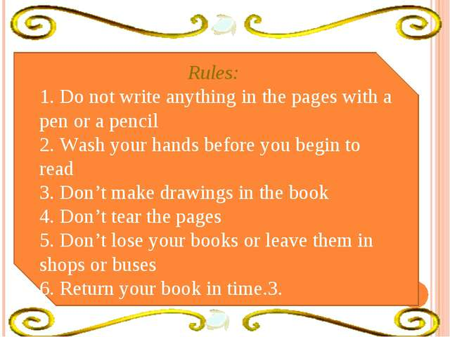 """Baiga"" Rules: 1. Do not write anything in the pages with a pen or a pencil 2..."
