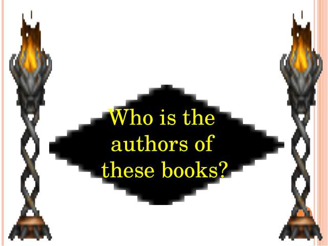 Who is the authors of these books?