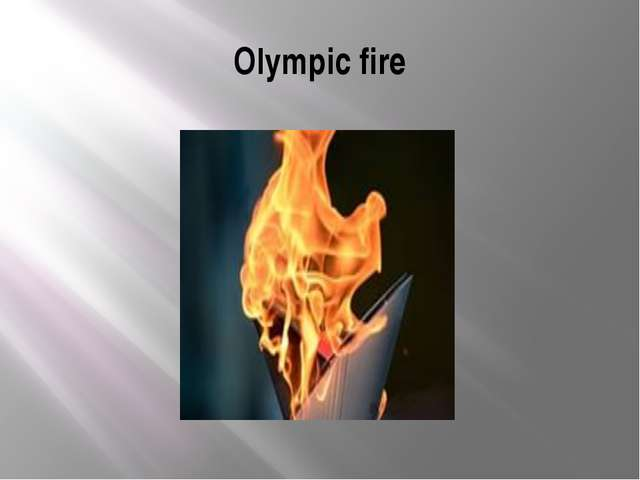 Olympic fire