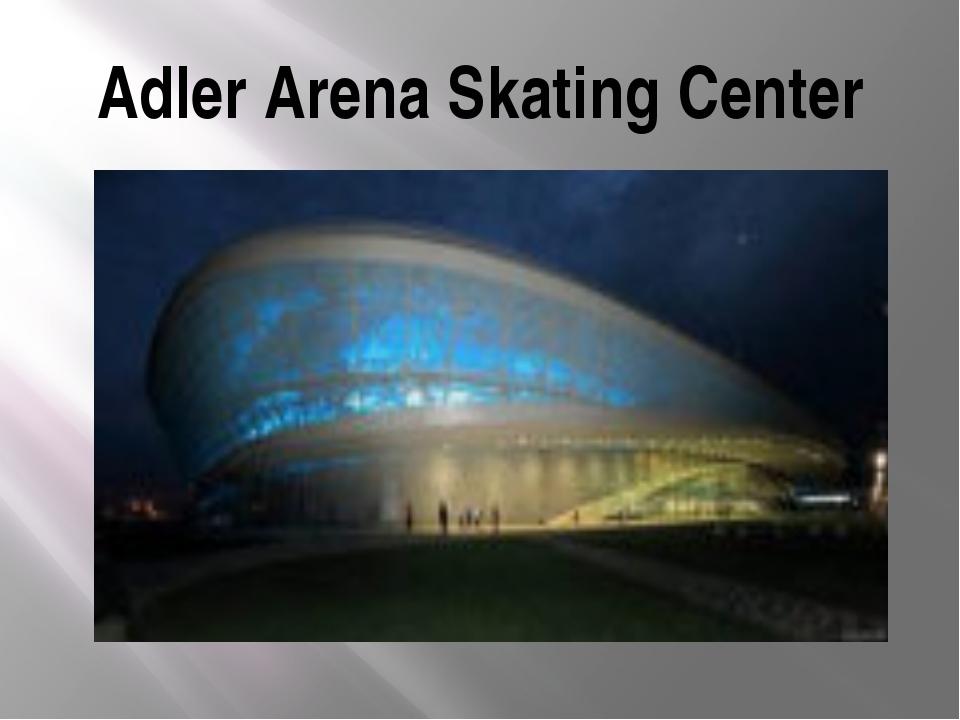 Adler Arena Skating Center