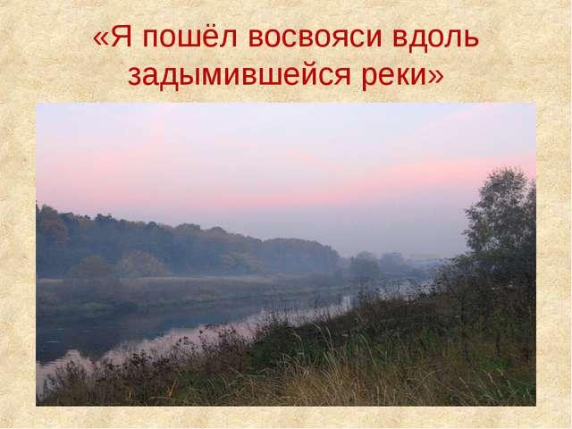 «Я пошёл восвояси вдоль задымившейся реки»